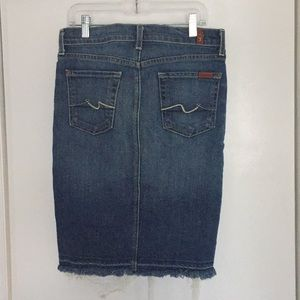 7 For All Mankind Glc Roxy Skirt Size 25 like new